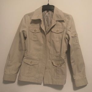 Giacca Gallery Beige Jacket Fully Lined Size Small